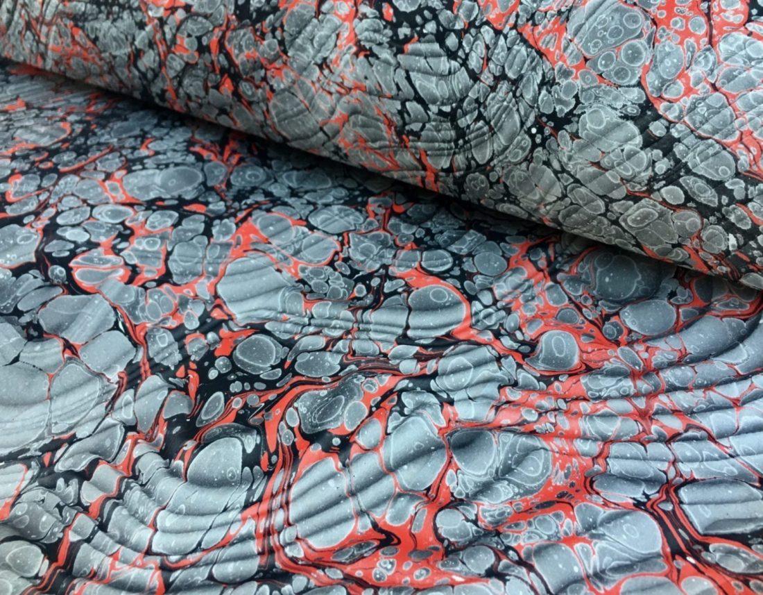 Muarines bangos marmurinio popieriaus raštas || Spanish moire marbled paper pattern