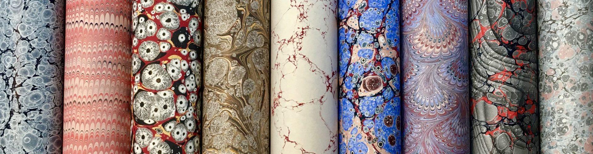 Rankų darbo marmurinis popierius || Hand marbled papers
