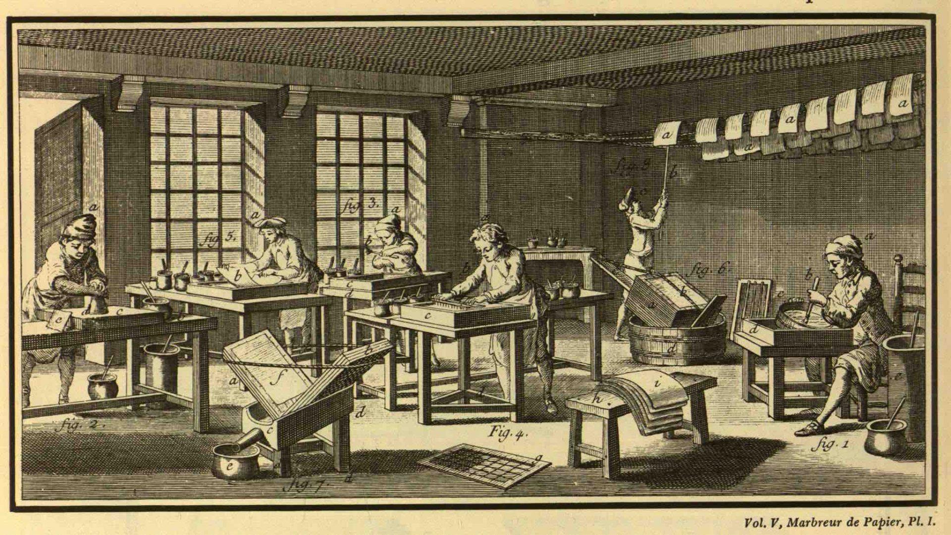 Encyklopedie ou dictionnaire raisonne des sciences, des arts et des metiers, edited by Denis Diderot and Jean le Rond d`Alembert (35 volumes, issued 1751-80, Paris)