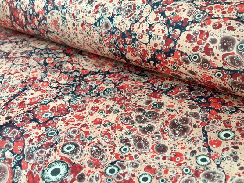 Turkiško marmuro su tigro akimis marmurinio popieriaus raštas || Turkish stone with tiger eyes marbled paper pattern