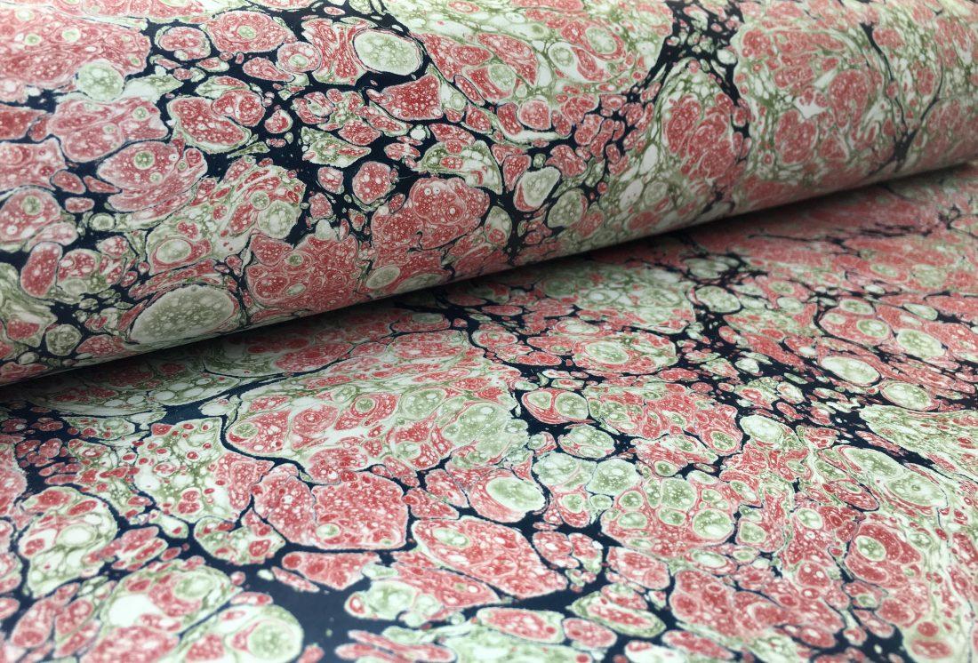 Stormont marmurinio popieriaus raštas || Stormont marbled papers pattern