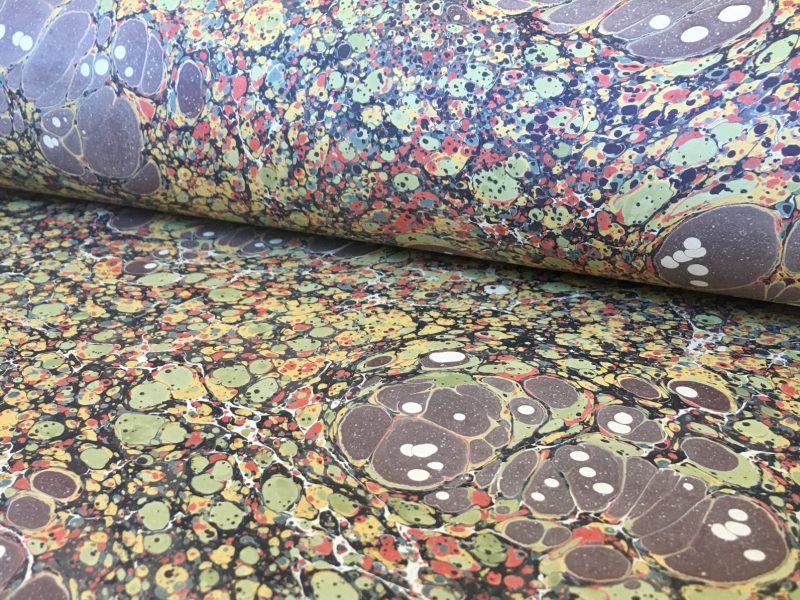Turkiško marmuro popieriaus raštas || Turkish stone marbled papers pattern