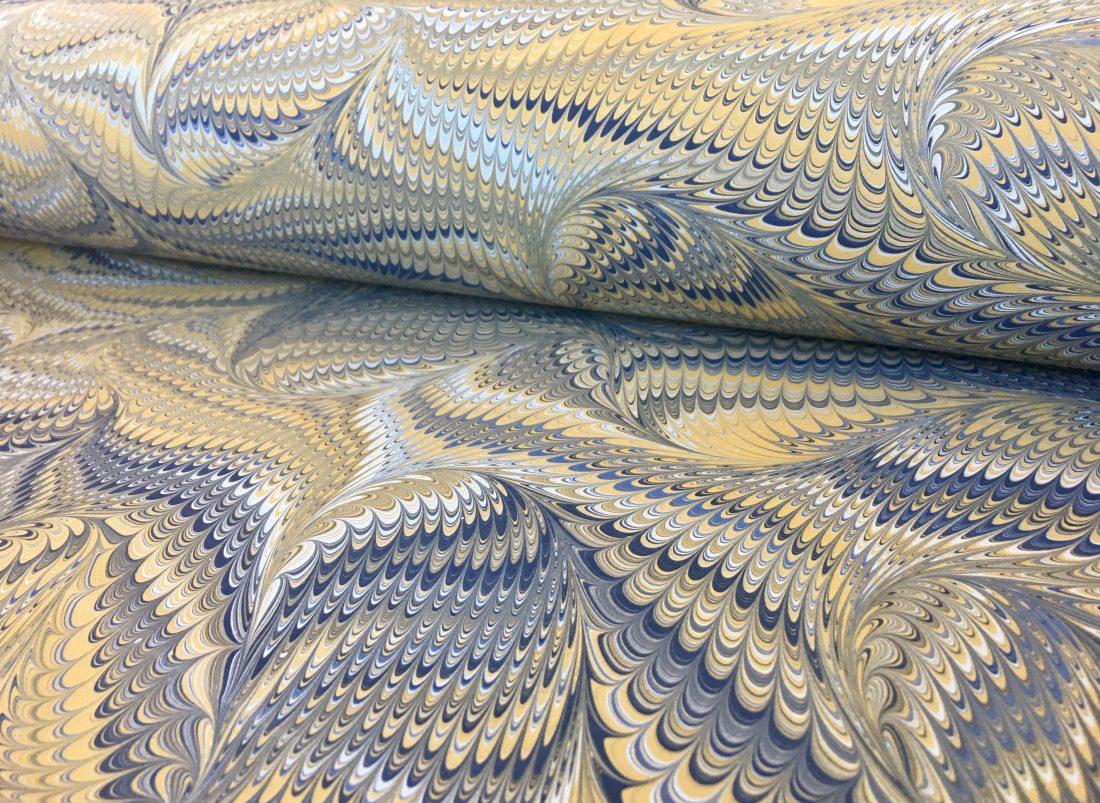Šukuotas marmurinio popieriaus raštas || Comb marbled papers pattern