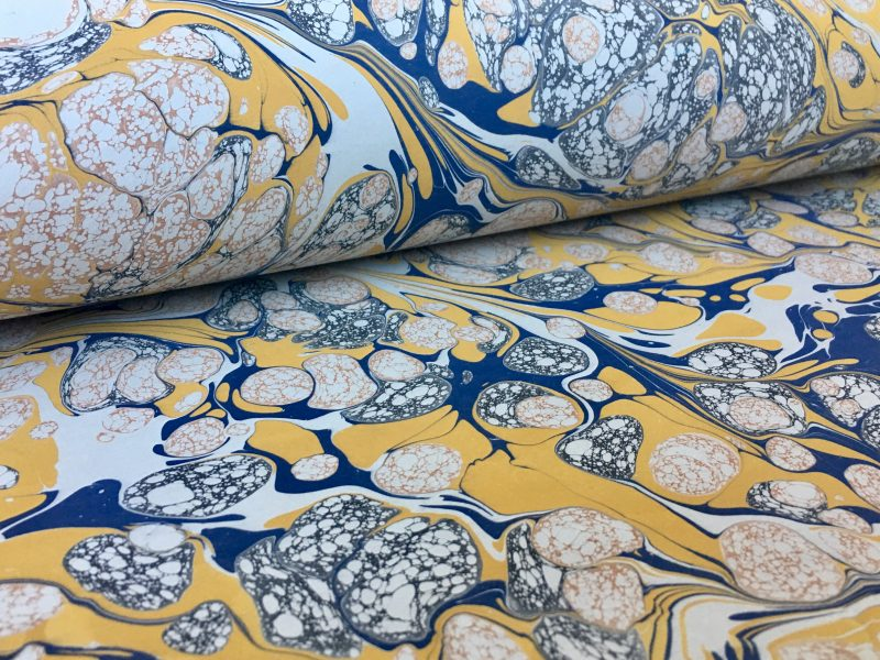 Gloster marmurinio popieriaus raštas || Gloster marbled papers pattern
