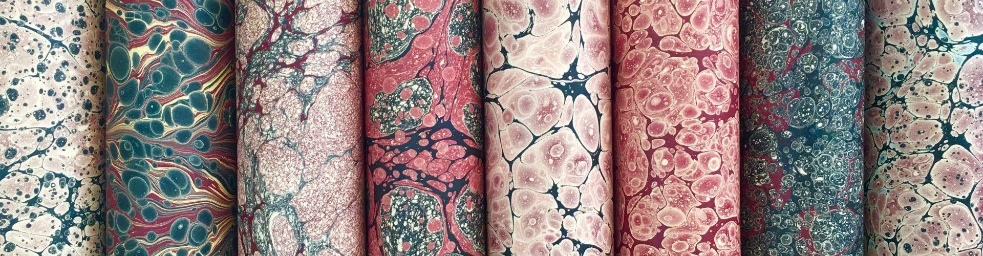 Rankų darbo marmurinis popierius || Hand marbed papers