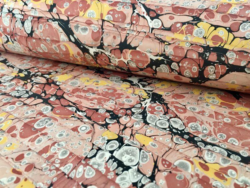 Ispaniskos bangos marmurinio popieriaus raštas || Spanish wave marbled papers pattern